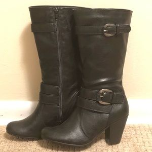 👢Relativity Black Re-Cami Heeled Boots